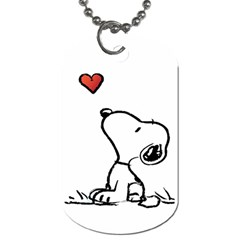 Snoopy Love Dog Tag (two Sides)