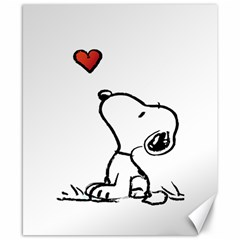 Snoopy Love Canvas 8  X 10  by Samandel