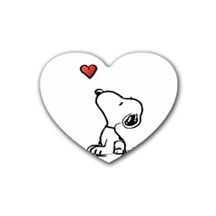Snoopy Love Heart Coaster (4 Pack)