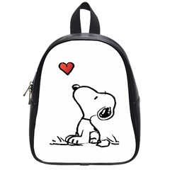 Snoopy Love School Bag (small) by Samandel