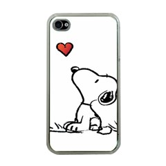 Snoopy Love Apple Iphone 4 Case (clear)
