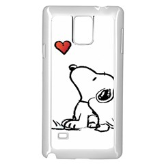 Snoopy Love Samsung Galaxy Note 4 Case (white) by Samandel