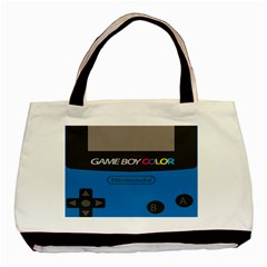 Game Boy Colour Blue Basic Tote Bag by Samandel