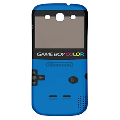 Game Boy Colour Blue Samsung Galaxy S3 S Iii Classic Hardshell Back Case by Samandel