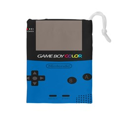 Game Boy Colour Blue Drawstring Pouches (large)