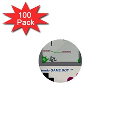 Game Boy White 1  Mini Buttons (100 Pack)