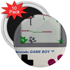 Game Boy White 3  Magnets (10 Pack)