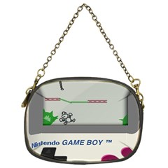 Game Boy White Chain Purses (two Sides)  by Samandel