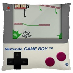 Game Boy White Large Cushion Case (two Sides) by Samandel