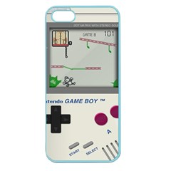 Game Boy White Apple Seamless Iphone 5 Case (color) by Samandel