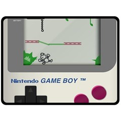 Game Boy White Double Sided Fleece Blanket (large)  by Samandel