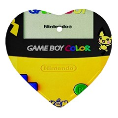Game Boy Yellow Ornament (heart) by Samandel