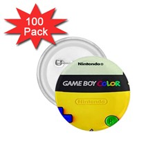 Game Boy Yellow 1 75  Buttons (100 Pack)