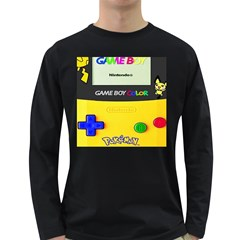 Game Boy Yellow Long Sleeve Dark T Shirts