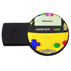 Game Boy Yellow Usb Flash Drive Round (4 Gb)