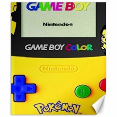 Game Boy Yellow Canvas 8  X 10
