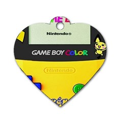 Game Boy Yellow Dog Tag Heart (two Sides)