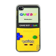 Game Boy Yellow Apple Iphone 4 Case (clear) by Samandel
