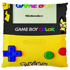 Game Boy Yellow Standard Flano Cushion Case (one Side) by Samandel