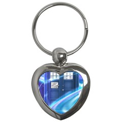 Tardis Space Key Chains (heart)  by Samandel
