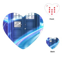 Tardis Space Playing Cards (heart)  by Samandel