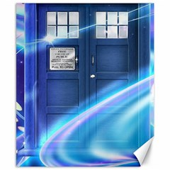 Tardis Space Canvas 8  X 10  by Samandel