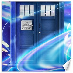 Tardis Space Canvas 12  X 12   by Samandel