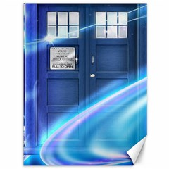 Tardis Space Canvas 36  X 48