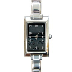 Game Boy Black Rectangle Italian Charm Watch