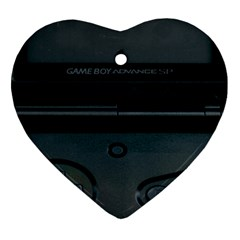 Game Boy Black Heart Ornament (two Sides) by Samandel