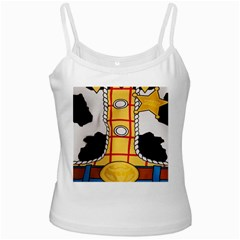 Woody Toy Story White Spaghetti Tank by Samandel