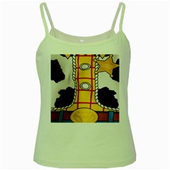 Woody Toy Story Green Spaghetti Tank