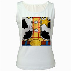 Woody Toy Story Women s White Tank Top by Samandel