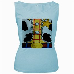 Woody Toy Story Women s Baby Blue Tank Top