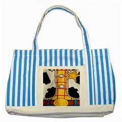 Woody Toy Story Striped Blue Tote Bag by Samandel
