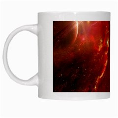 Space Red White Mugs