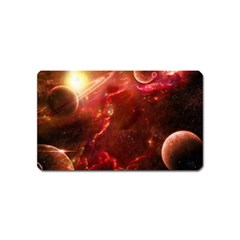 Space Red Magnet (name Card)