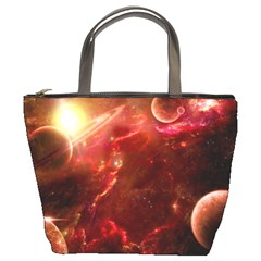 Space Red Bucket Bags