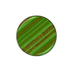 Stripes Course Texture Background Hat Clip Ball Marker by Sapixe
