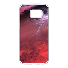 Storm Clouds And Rain Molten Iron May Be Common Occurrences Of Failed Stars Known As Brown Dwarfs Samsung Galaxy S7 Edge White Seamless Case by Sapixe