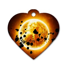 Sun Man Dog Tag Heart (two Sides)