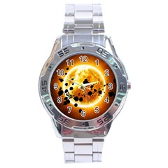 Sun Man Stainless Steel Analogue Watch by Sapixe