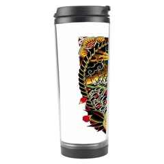 Tattoo Art Print Traditional Artwork Lighthouse Wave Travel Tumbler