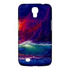 Sunset Orange Sky Dark Cloud Sea Waves Of The Sea, Rocky Mountains Art Samsung Galaxy Mega 6 3  I9200 Hardshell Case by Sapixe