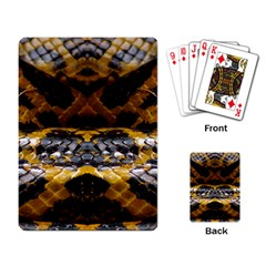 Textures Snake Skin Patterns Playing Card by Sapixe