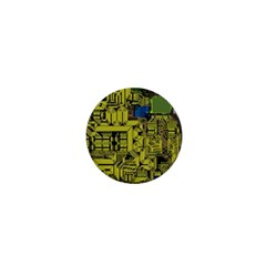 Technology Circuit Board 1  Mini Buttons by Sapixe