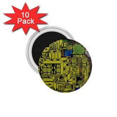 Technology Circuit Board 1 75  Magnets (10 Pack)  by Sapixe