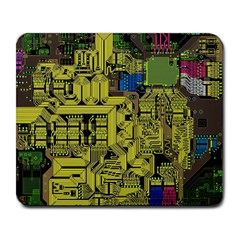 Technology Circuit Board Large Mousepads by Sapixe