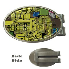 Technology Circuit Board Money Clips (oval)  by Sapixe