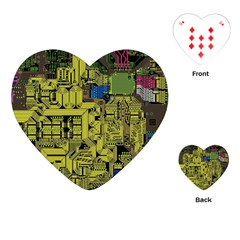 Technology Circuit Board Playing Cards (heart)  by Sapixe